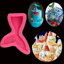 3D Meerjungfrau Silikon Backform Fondant Sugarcraft Backwerkzeug Schokoladenform