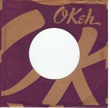 Company Sleeve 45 Okeh - Purple W/ Brown Writing