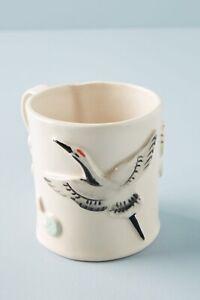 Anthropologie Avril Mug Bird Vanessa Villarreal Ceramics Handpainted New