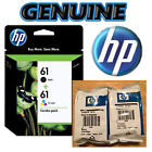 GENUINE HP 61 Black & Color Ink Cartridge Combo Pack • NEW & FRESH 2018