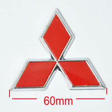 RED Triangle 6cm Mitsubishi JDM Badge Emblem Front Rear Trunk Hood Sticker ASX