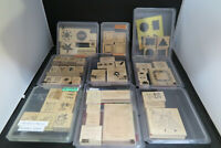 Stampin Up! Lot of 9 Rubber Stamp Sets- wood block -Nice assortment