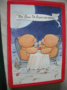 On OUR 1st ANNIVERSARY (Bears Celebrating) Forever Friends Card