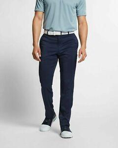 Nike Mens Flex Slim Fit 6 Pocket Golf Pants Dri-fit 32 x 30 BV0278-451 Navy Blue