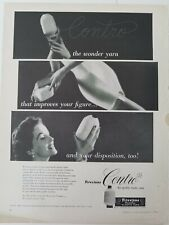 1952 women's Contro elastic wonder yarn Firestone girdle vintage  ad