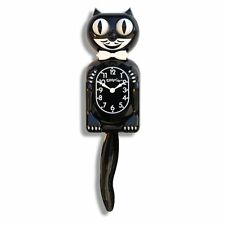 Felix The Cat Clock Wall For Kids With Pendulum Battery Operated Black Vintage