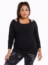 Torrid Active Plus Size 1 1X Off Shoulder Sweatshirt Long Sleeve