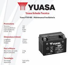 BATTERIE MOTO YUASA YTX9-BS 12V 8AH E-Ton YLX Yukon - 150 cc - années: 2000 >