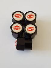 5 X AUDI Black car Valve Alloy wheel dust Caps All models A6 A3 Q7 Quattro A1 S5
