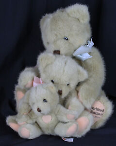 Dankin Cherished Teddies Plush Stuffed Animal 3 Bears Trio Family Friends 1994