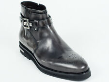 New  Cesare Paciotti  Gray Patent Leather Boots UK 11 US 12 Retail $ 745