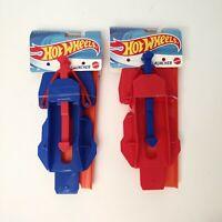 2 Pack New MATTEL Hot Wheels Launcher & Race Track Red & Blue