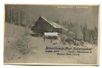 Czechoslovakia - Spiegelbaude Post Johannisbad - old real photo postcard