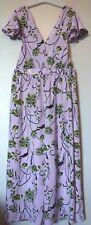 ASOS Floral Print Twist Back & Frill Detail Jumpsuit Size 12 BNWT RRP £38 Pink