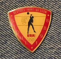 Volleyball Olympic Pin~Sponsor~Beatrice~Hunt~Wesson~1988 Seoul, Korea