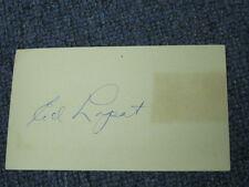Ed Lopat Autographed PostCard