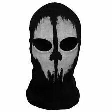 GHOST 2 Hole Unique FACE MASK Fancy Dress Costume 1 Size Senior Balaclava