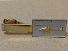 Helicopter tie pin bar clip clasp mid century 1960's gold tone vintage aviation