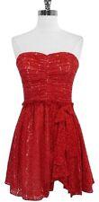 Jill Stuart Red Strapless Lace Dress Size 6