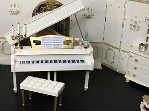 BARBIE KEN OOAK GRAND PIANO FURNITURE FASHION ROYALTY 1:6 SCALE