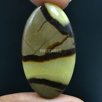 Cts. 28.95 Natural Madagascar Dragon Septarian Cabochon Oval Cab Loose Gemstone