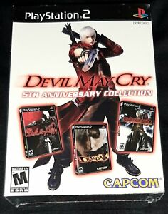 Devil May Cry 5th Anniversary Collection (PS2) RARE White Box Brand New Sealed