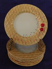 AS IS Oneida Waffle Cone with Cherry & Sprinkles DESSERT PLATE 1 of 4 available