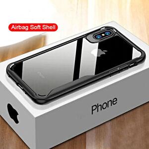 COVER per Iphone X XS Max XR 8 7 Soft Bordi Rinforzati A-Grade VETRO TEMPERATO