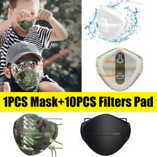 Face Cover Washable Carbon Filter Mouth Nose Separate White Black Face Shiled