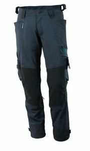 Mascot Advanced size 76C46 measured STRETCH blue work trousers, Kneepad Pockets