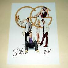"GOSSIP GIRL CAST X2 PP SIGNED POSTER 12""X8"" CHASE"