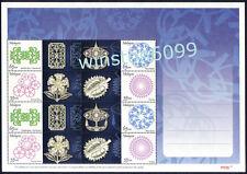 2011 Malaysia Flower Kite Fruit Standard Personalised Setemku 8v Stamps Sheetlet