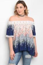 NEW..Stylish Plus Size Pretty Floral Print Off the Shoulder Top.Sz16/1XL