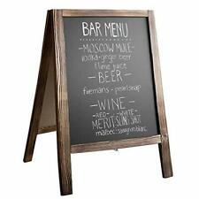 Wooden A-Frame Sign with Eraser & Chalk - 21x30 Inches, Rustic Natural Wood