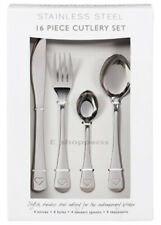16 Piece Silver  Stainless Steel Cutlery Set Forks Spoons Love heart desig