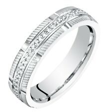 Womens 14K White Gold Wedding Anniversary Ring Band Sizes 4 to 9