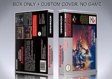 SUPER PROBOTECTOR. PAL VERSION. Box/Case. Super Nintendo. BOX + COVER. NO GAME.