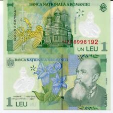 Romania - 1 Leu - UNC polymer currency note