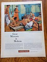 1959 Parke Davis Ad Medicine Susruta Surgeon of Old India