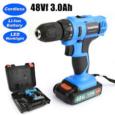 21-Volt drill 2 Speed Electric Cordless Drill / Driver with Bits Set & Li-ion US