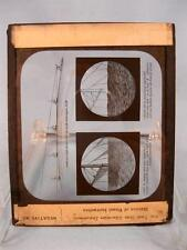 Magic Lantern Glass Slide Unnamed The Curvature Of The Sea Rotundity (O) AS IS