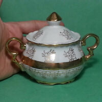 Sterling China Sugar Bowl with Lid Porcelain China Made in Japan Gold Painted