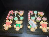 Valerie Parr Hill gingerbread ornaments Set Of 28 in a gingerbread house box