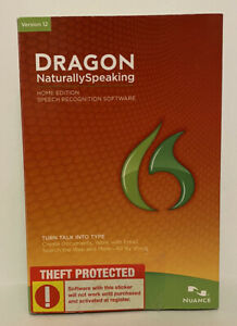 Dragon Naturally Speaking Speech Recognition Software Version 12 Home Ed Nuance