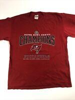 Vintage Gildan Tampa Bay Buccaneers Super Bowl XXXVII Champions shirt Tee ,Large