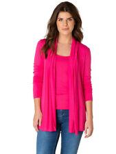Leichte Strickjacke von Yest 38 42 48 fresh pink Yessica verschlußlos Viscose