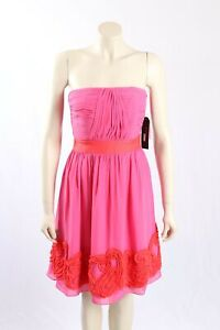 NEW Miss Sixty pink strapless party cocktail dress - Size 6-RRP:$148.00