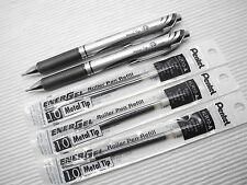 3 pen + 3 refill Pentel BL80-A Ener Gel 1.0mm Broad roller ball pen Black(Japan)