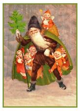 Victorian Dolls Father Christmas Santa Claus # 708 Counted Cross Stitch Pattern