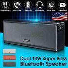 Dual 10W Portable bluetooth Speaker Wireless Stereo Super Bass Subwoofer AUX